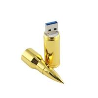 Флешка-пуля Золото 22528 под нанесение логотипа оптом
